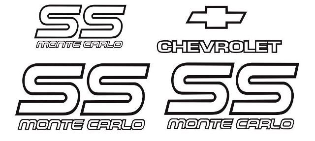 product  monte carlo ss 87 88 restoration vinyl decals stickers kit chevy graphic