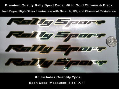 RS SS Rally Sport Aufkleber Kit 2 Stück Camaro Gold Chrom Haubenschaufel 0115