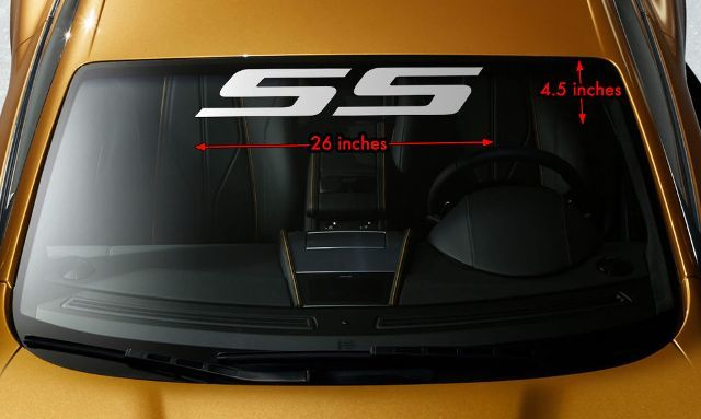 Product Ss Windshield Banner Vinyl Decal Sticker F Chevy