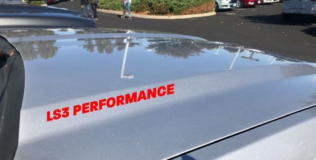 LS3 Performance Hood Vinyl Decal Logo Corvette ZR1 Pontiac G8 Camaro SS GM Red