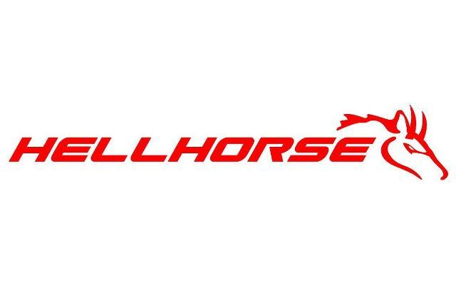 Hellhorse - Mustang Vinyl Aufkleber Aufkleber - Rot - Ford Rennwagen Cobra GT V8 V6