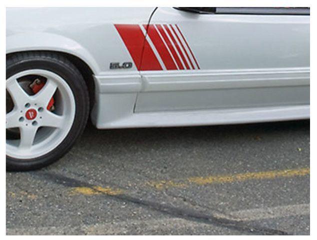 1979-1993 Ford Mustang verblasste Seitenstreifen Strobe Decals Kit 79-93