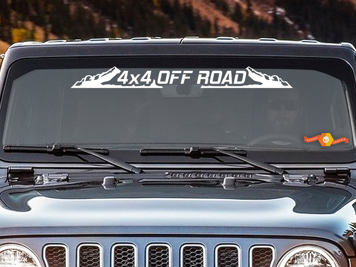 4x4 Off Road Skull Decal Sticker Wall Bumper window laptop windscreen JDM
