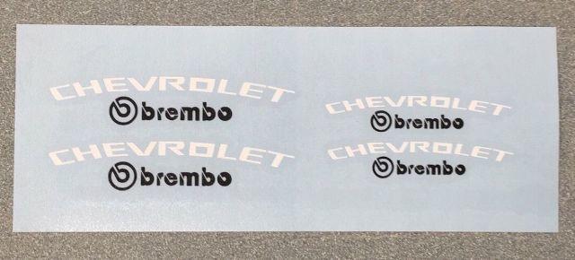 CHEVROLET Brembo Camaro SS Bremssattel Hochtemp. Vinyl-Abziehbilder (jede Farbe)