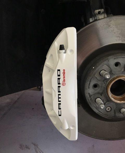 Chevy Chevrolet Camaro Bremssattel Hochtemperatur Brembo Vinyl Aufkleber (Farbe wählen)