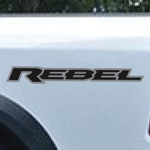 2 Farbe Dodge Ram Rebel Logo LKW Vinyl Aufkleber Grafik Silber Schwarz