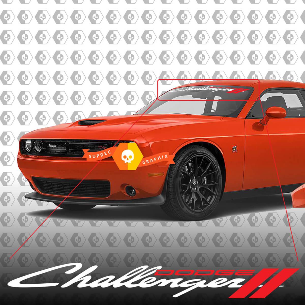 Dodge Challenger Windschutzscheibe Aufkleber Aufkleber 2018-2020 neues Design