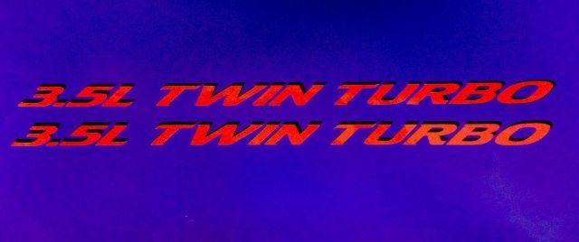 3.5L Twin Turbo (1) PAAR Hood Decals Emblem für Ford F150 Ecoboost V6