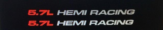(1) Paar Aufkleber für 5,7 l HEMI RACING Passend für Dodge Ram V8 1500, 2500 17