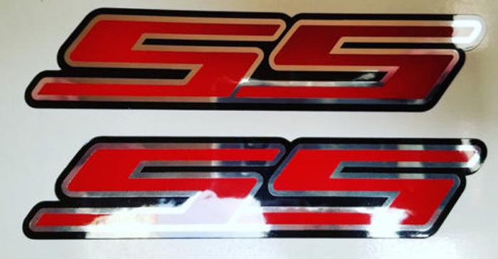 SS Super Sport Aufkleber Kit 2 Stück Chrom Rallye Sport Chevy Camaro Chevrolet 0203
