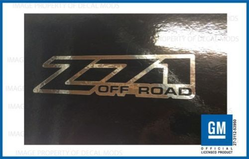 Set 2 - Z71 Offroad 2001 <-> 2006 Aufkleber Chevy Silverado 4x4 - CHROME