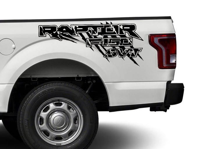 Ford Raptor F150 F 150 SVT Distressed Grunge 4X4 Bett Seite Grafik Aufkleber Aufkleber