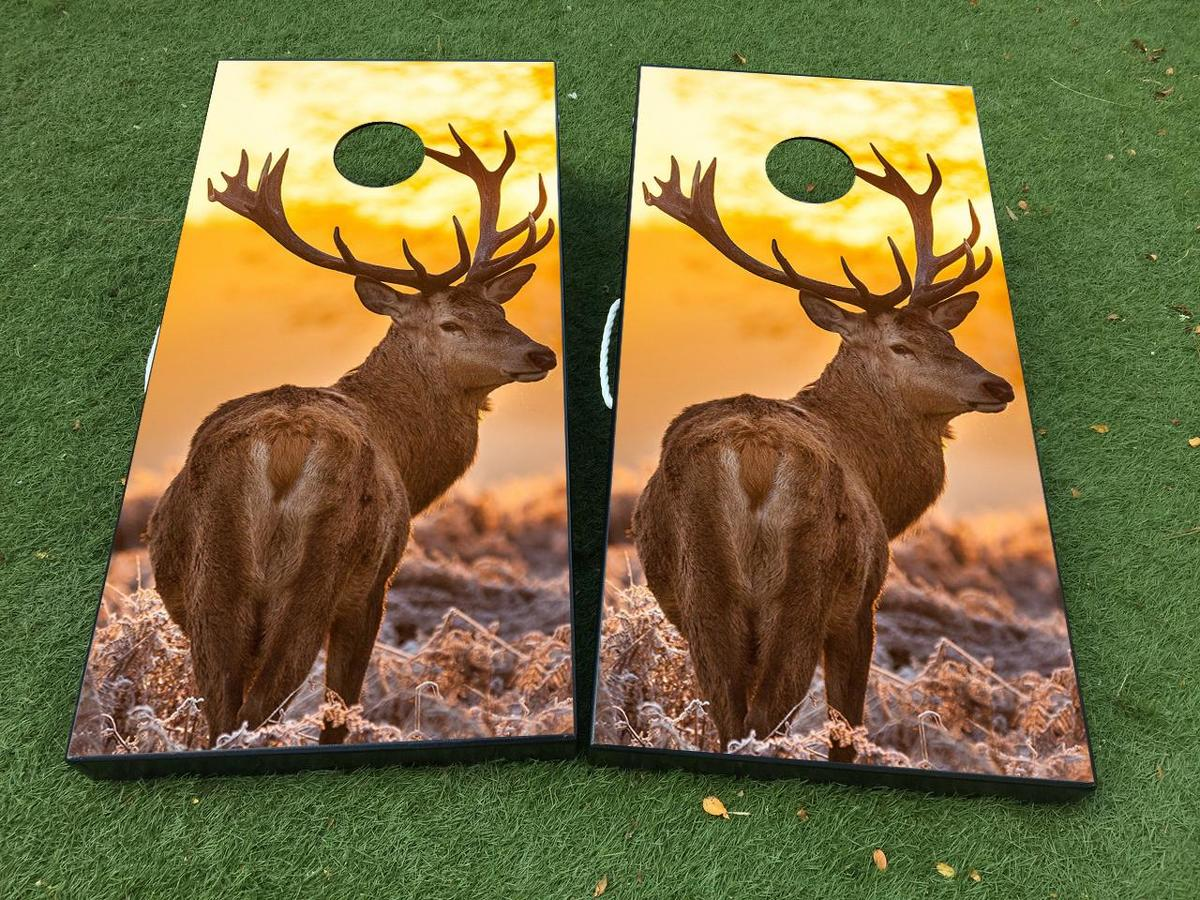 Deer Cornhole Board Game Decal VINYL WRAPS with LAMINATED
