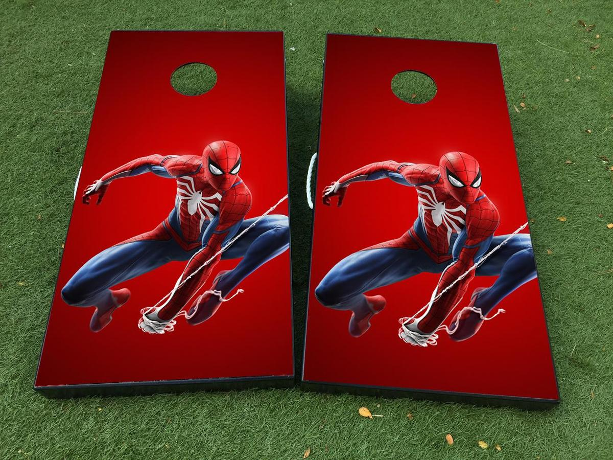 Spider-Man Cornhole Board Game Decal VINYL WRAPS with LAMINATED
