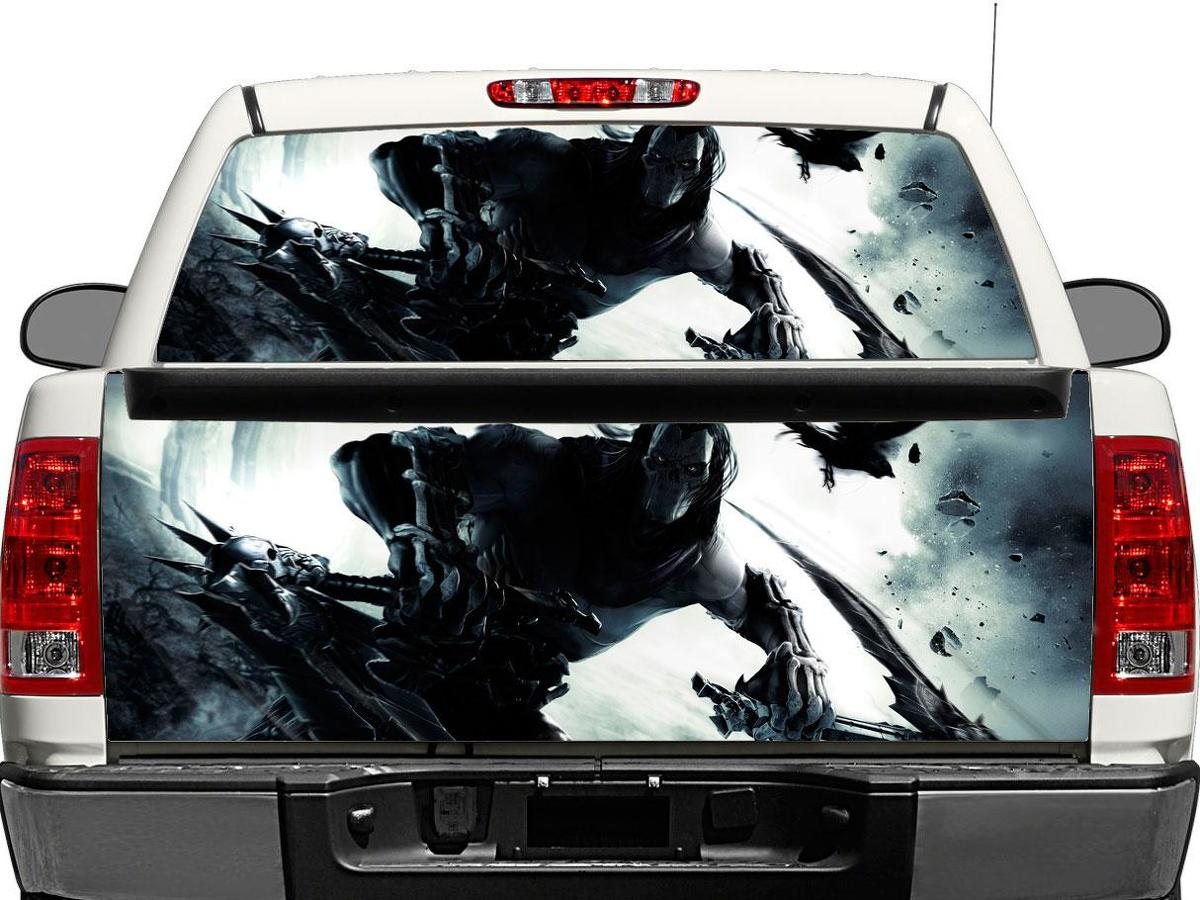 Death darksiders Rear Window OR tailgate Decal Sticker Pick-up Truck SUV Car