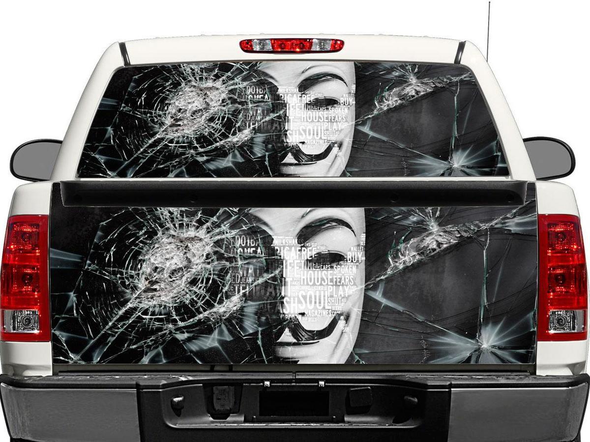 Anonym Heckscheibe ODER Heckklappe Aufkleber Aufkleber Pick-up Truck SUV Auto
