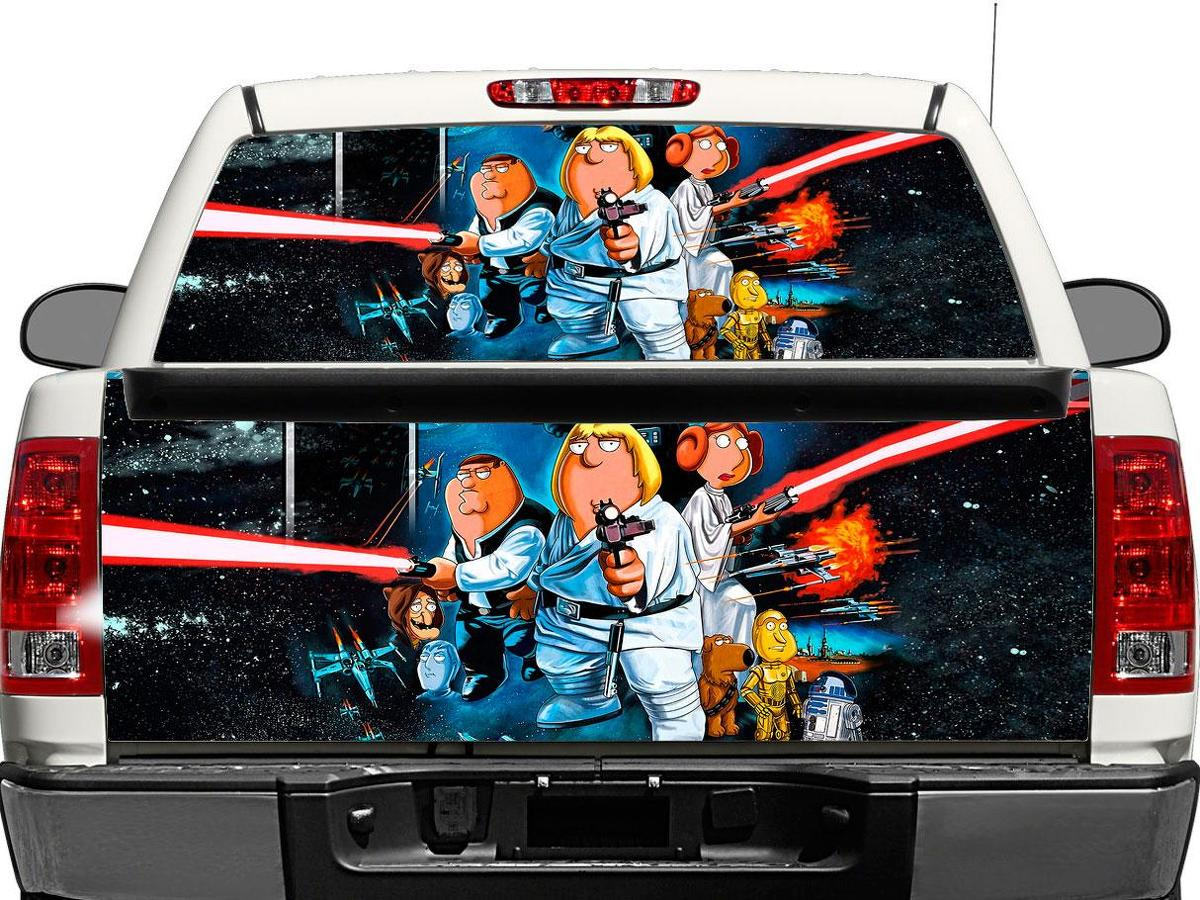 Family Guy Star Wars Rear Window OR tailgate Decal Sticker Pick-up Truck SUV Car