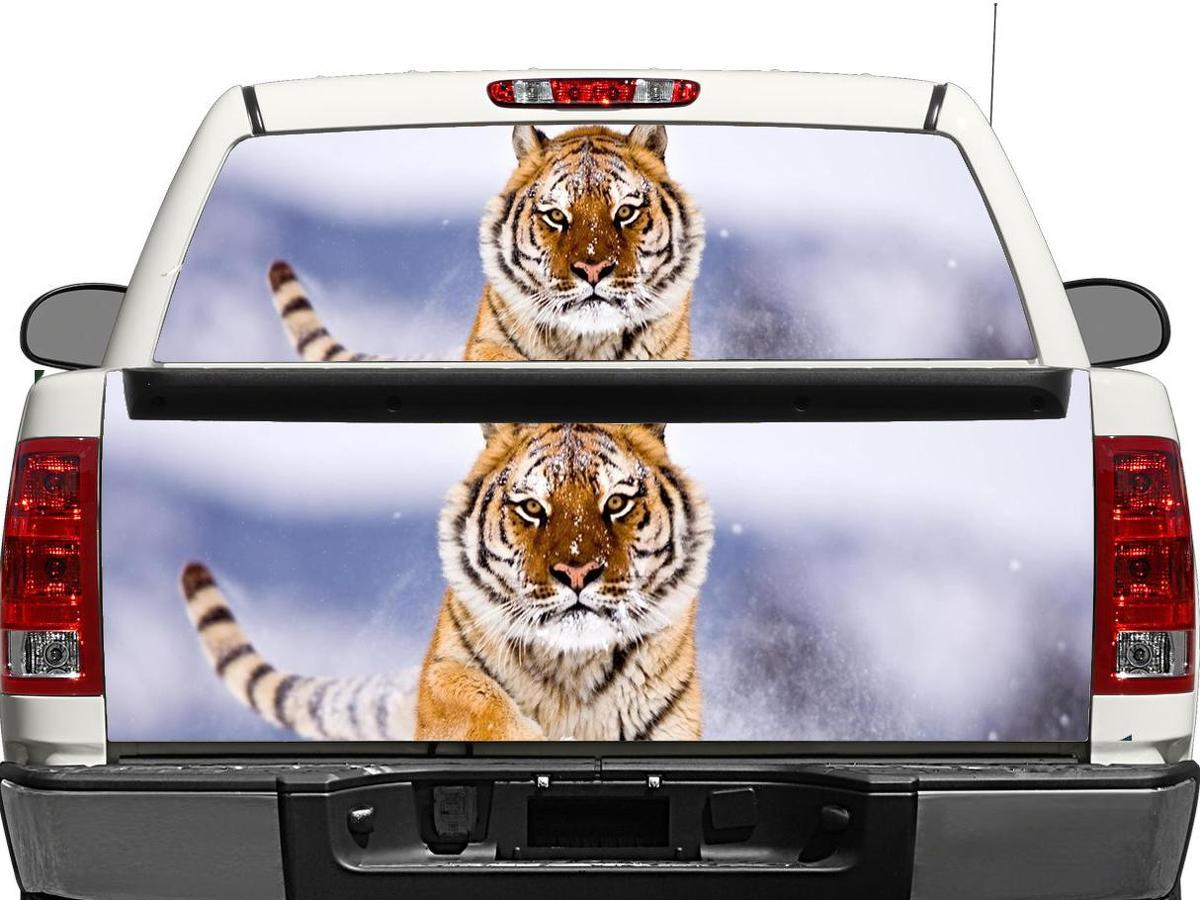 Tiger Rear Window OR tailgate Decal Sticker Pick-up Truck SUV Car
