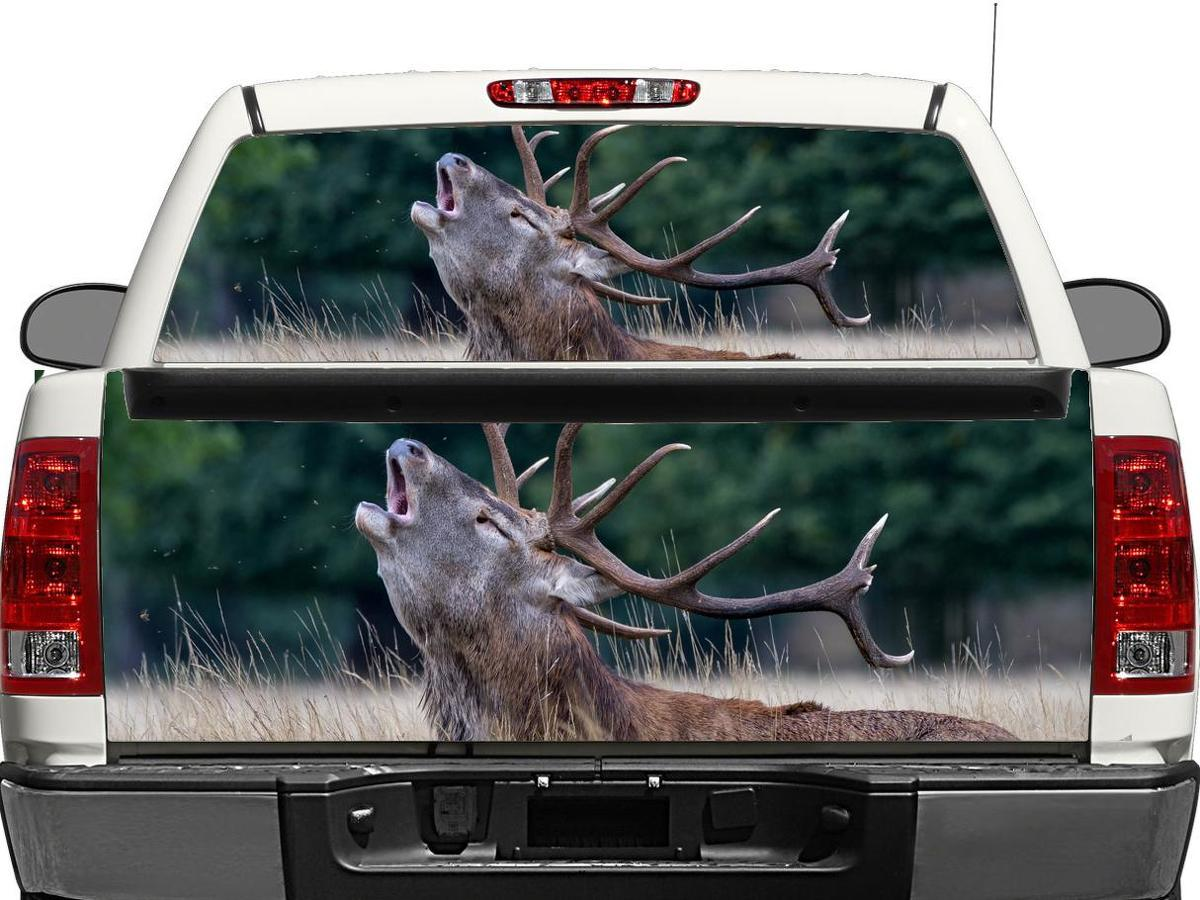 Deer Nature Rear Window OR tailgate Decal Sticker Pick-up Truck SUV Car