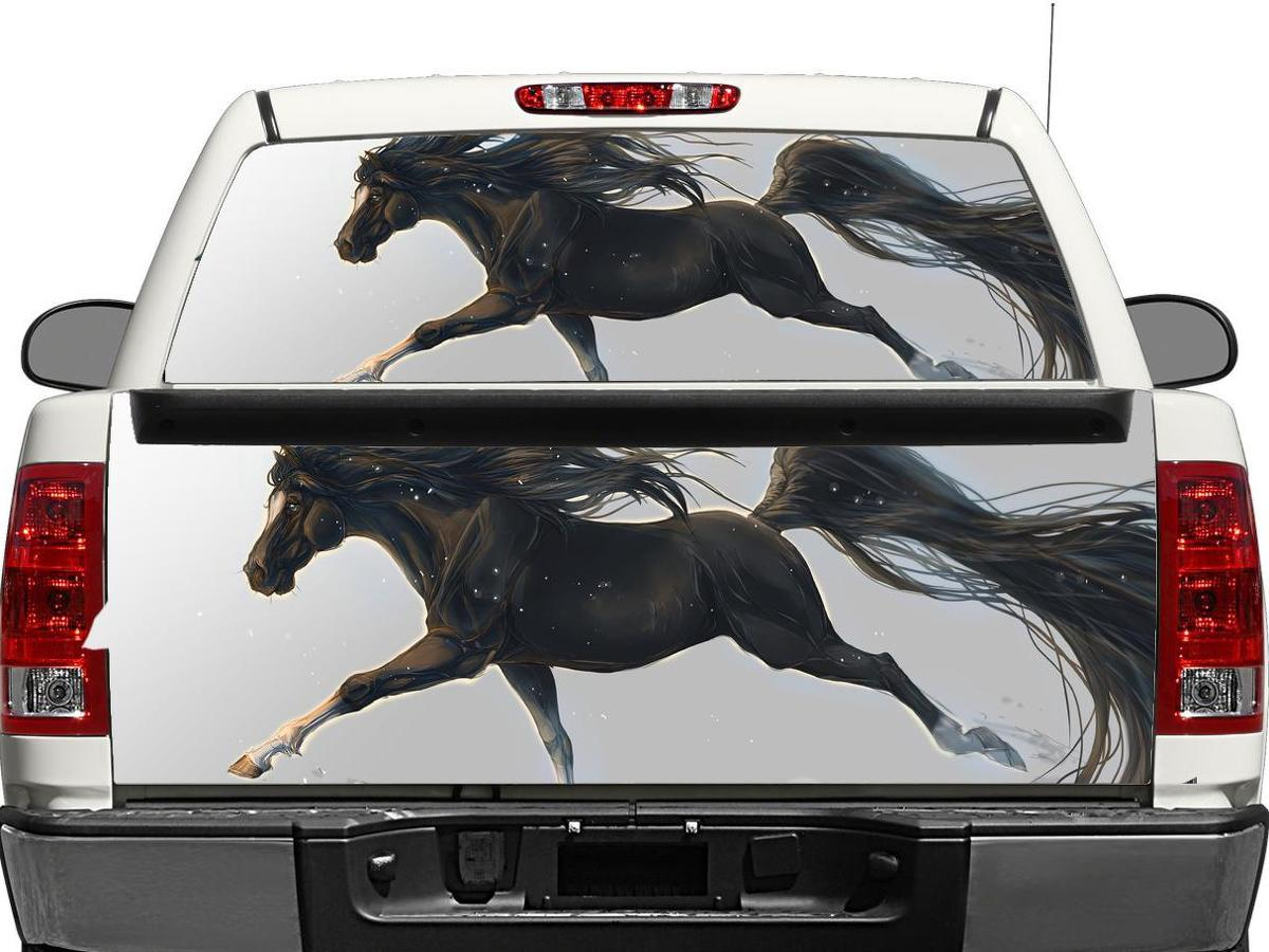 Running horse Rear Window OR tailgate Decal Sticker Pick-up Truck SUV Car