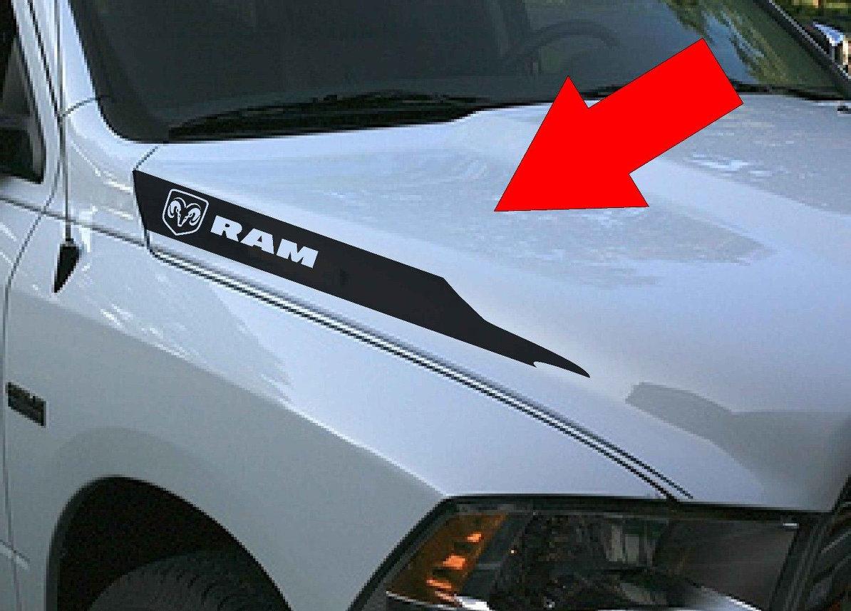 Dodge Ram Hemi 5,7 L 1500 2500 Haube Vinyl Streifen Aufkleber Aufkleber Mopar Rebel RT