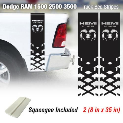 Dodge Ram 1500 2500 3500 Hemi 4x4 Decal Truck Bed Stripe Vinyl Sticker Racing 2D