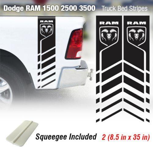 Dodge Ram 1500 2500 3500 Hemi 4x4 Aufkleber LKW-Ladefläche Streifen Vinyl Aufkleber Racing 7R