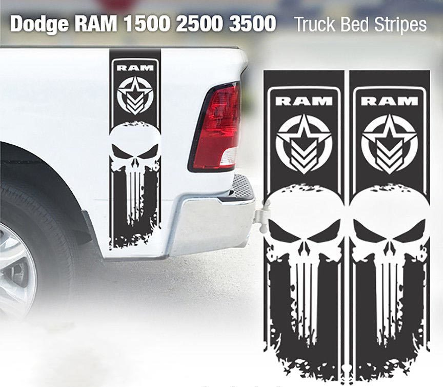 Product Dodge Ram Punisher Star 1500 2500 3500 Hemi 4x4 Decals