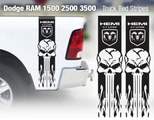 Dodge Ram 1500 2500 3500 Hemi 4x4 Aufkleber LKW-Ladefläche Streifen Vinyl Aufkleber Racing 8D