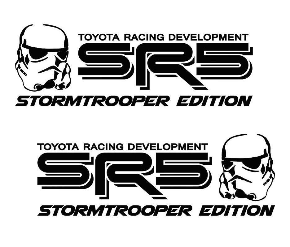 Toyota SR5 Truck Stormtrooper Edition Tacoma Tundra Decals Sticker Decal Vinyl X