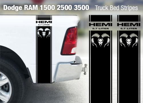 Dodge Ram 1500 2500 3500 Hemi 4x4 Decal Truck Bed Stripe Vinyl Sticker Racing D8