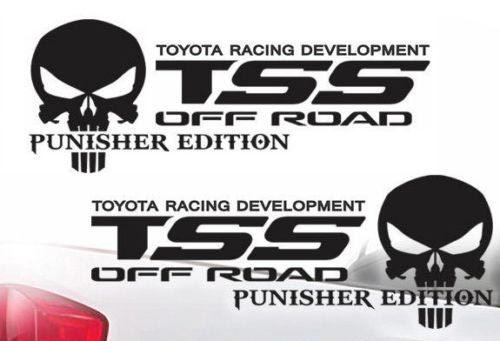 Toyota TSS LKW Offroad-Rennen Tacoma Tundra Der Punisher Aufkleber Vinyl Aufkleber j