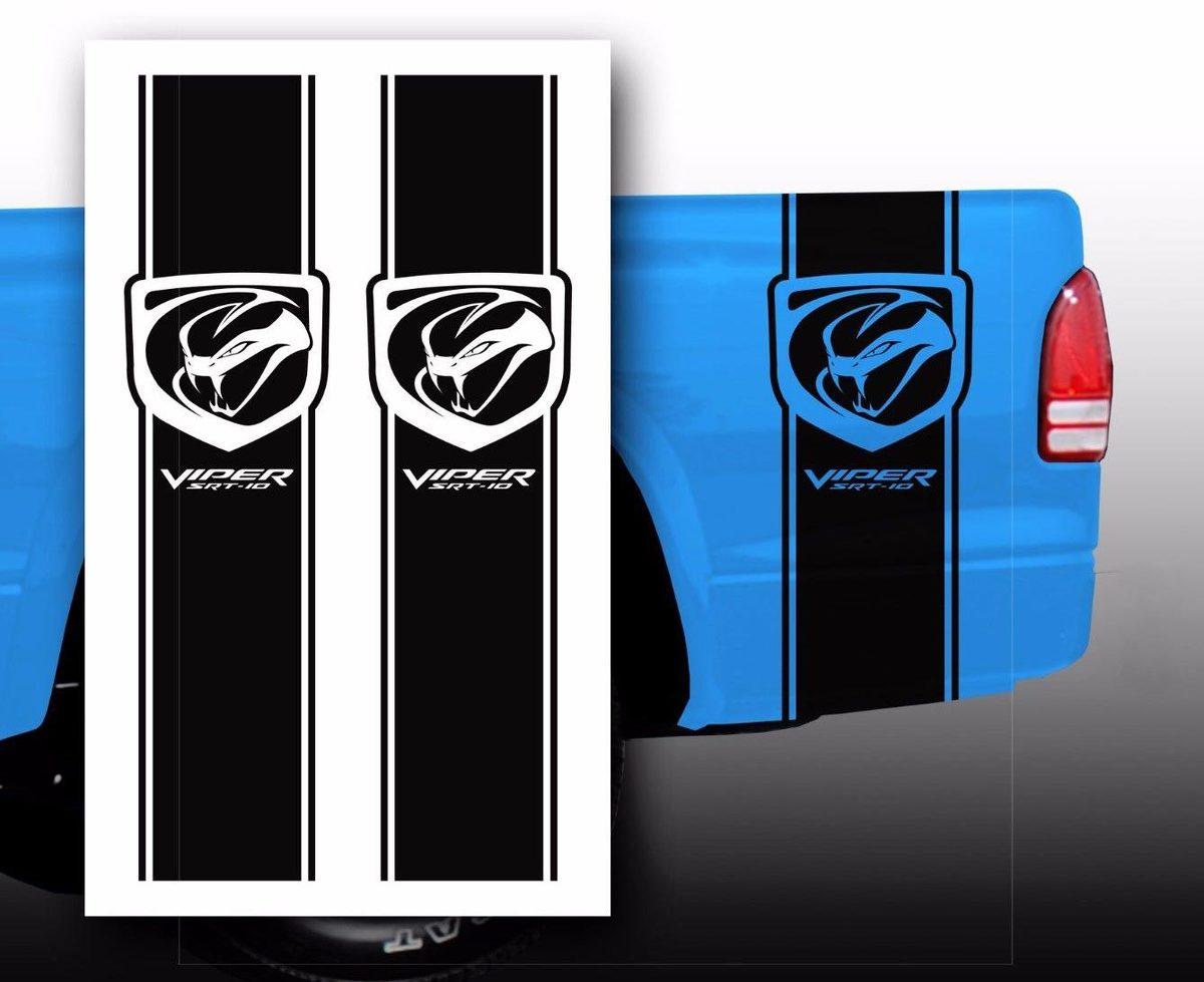 Dodge Viper Srt 10 Pickup Truck Bed Stripes Decal Stickers Choose Color