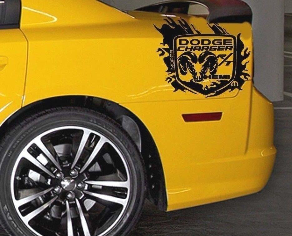 SiDE Back Fender Graphic Decal Aufkleber für Dodge CHarger maßgeschneiderte RT Hemi