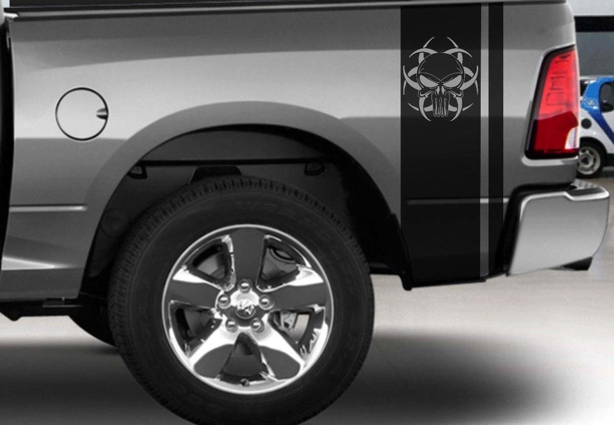 Dodge Ram Truck Vinyl Heckbett Punisher Aufkleber Mopar Rebell Hemi 5.7 Hellcat