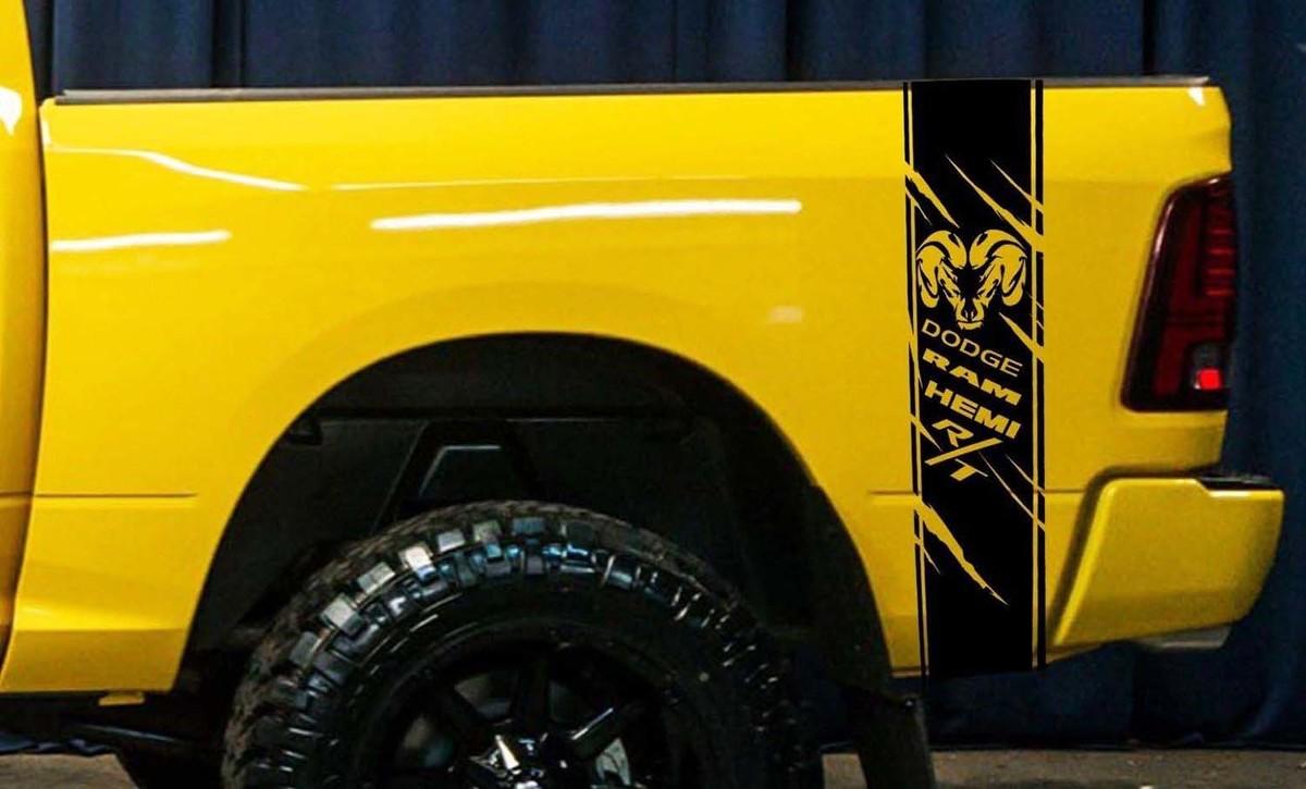 Dodge Ram 1500 RT HEMI LKW-Ladefläche Box Grafik Streifen Aufkleber Aufkleber Kit benutzerdefinierte