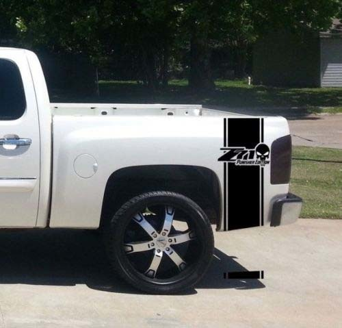 Chevrolet Z71 Punisher Edition Bed Stripe Decals for CHEVY GMC Pickup Truck