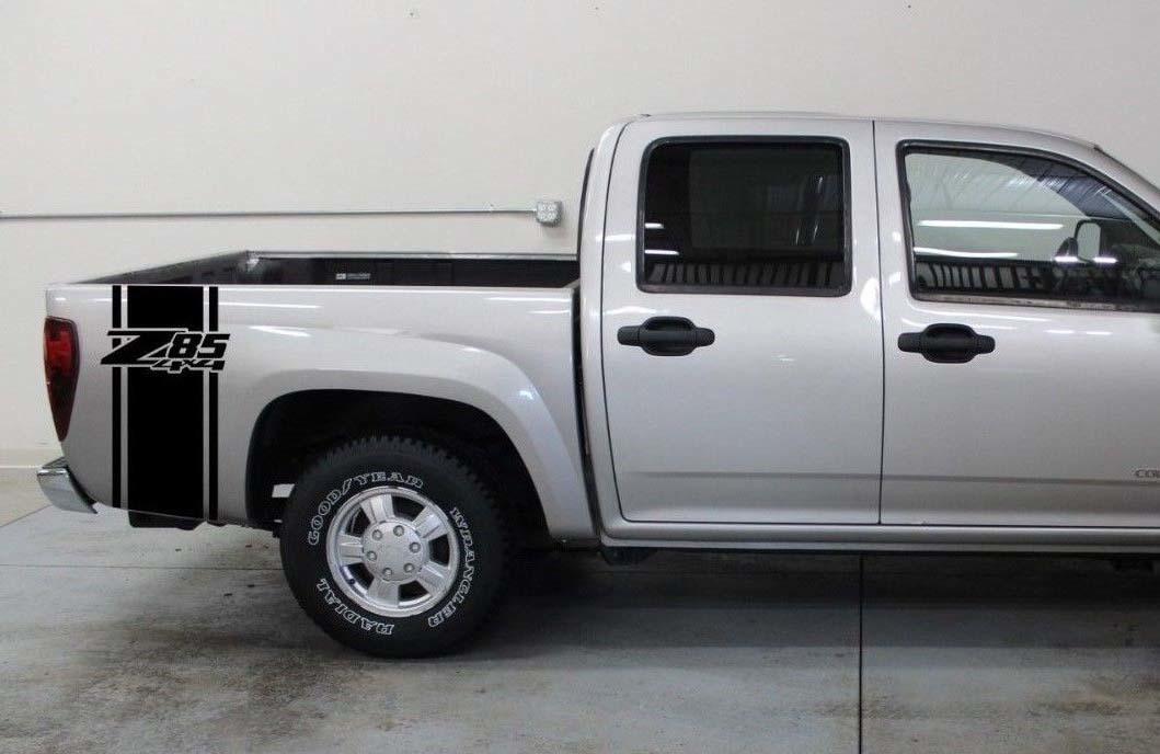 Chevrolet Z85 4x4 Bettstreifen Aufkleber Set von (2) für CHEVY GMC Pickup Truck