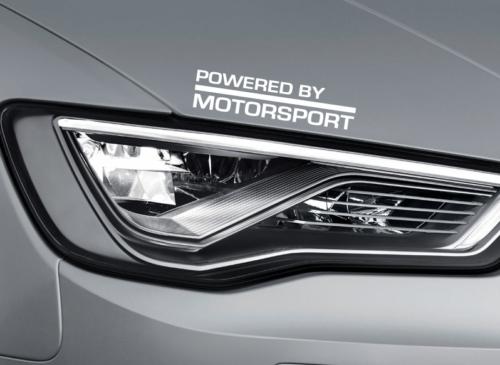 Powered by Motorsport Vinyl Aufkleber Auto Logo Haubenrock - passt Audi a4 a3 - SS22