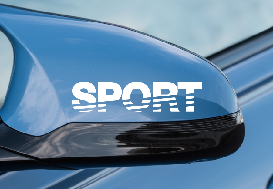 Product 2 Pack Sport Mirror Decals Wht Motorsports Stickers Jdm
