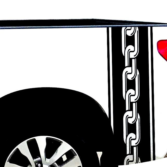Chain Biker work Bed Side Stripes vinyl Truck decal - Ram Chevy Ford F150-TS13