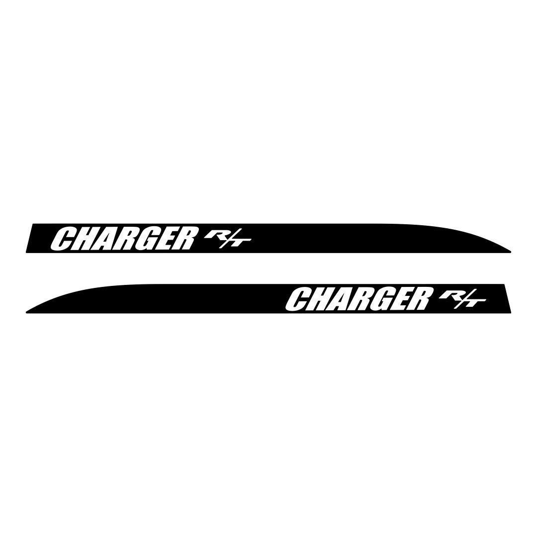 Dodge Charger RT vorgeschnittene hintere Viertelstreifen Aufkleber Set 2006 2007 2008 2009 2010