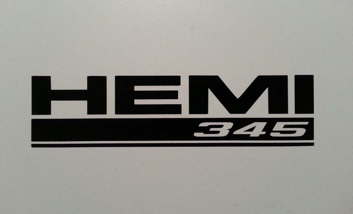 HEMI 345 AUFKLEBER ** 5.7 DODGE RAM TRUCK HERAUSFORDERER LADEGERÄT MAGNUM MOPAR PLYMOUTH