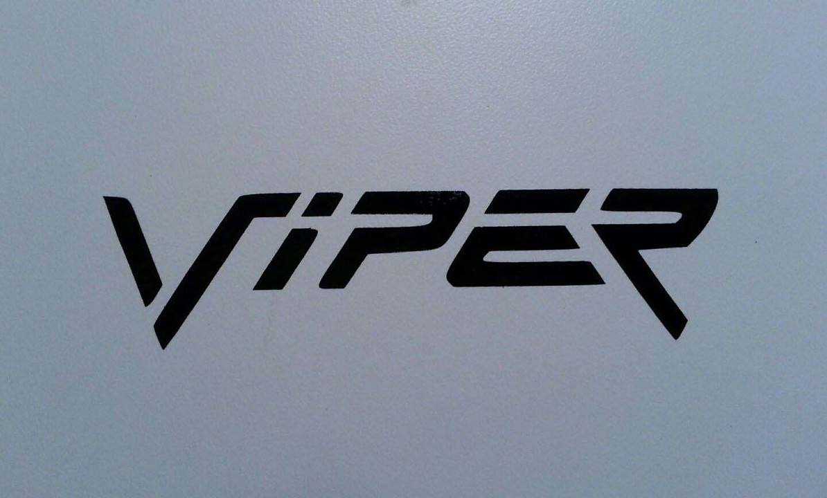 VIPER DECAL * DODGE PLYMOUTH MOPAR HEMI CUDA HERAUSFORDERER DEMON R / T HELLCAT