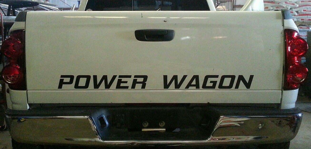 DODGE RAM POWER WAGON TAILGATE AUFKLEBER * MOPAR 5.7 HEMI CUMMINS