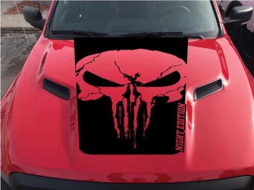 Dodge Ram Rebel Punisher Schädel Nacht Edition Hood Truck Vinyl Aufkleber Grafik