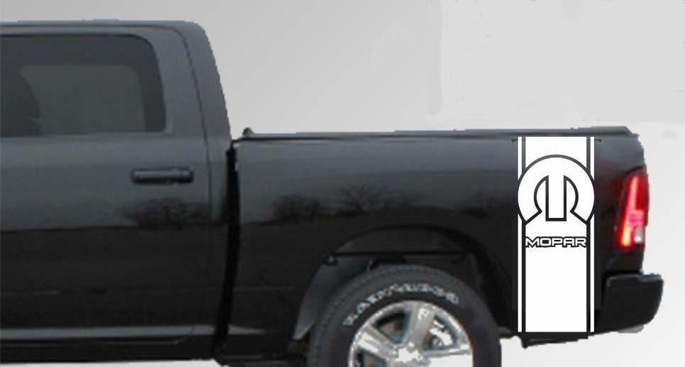 Dodge Ram 1500 2500 3500 LKW-Ladefläche Streifen Vinyl Aufkleber Aufkleber Hemi 4x4 Mopar