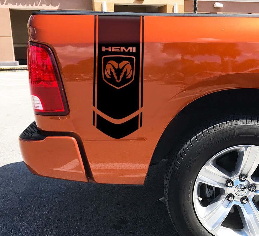 Dodge Logo Ram Hemi 1500 2500 3500 4x4 Aufkleber LKW Aufkleber Grafik Vinyl -A