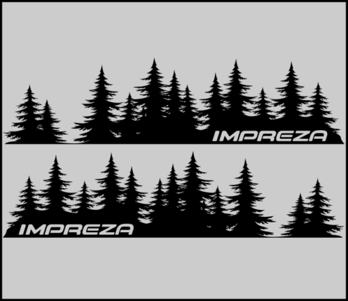 IMPREZA Baum Aufkleber Subaru Aufkleber Vinyl Tür Graphic Mountains Northwest PNW JDM
