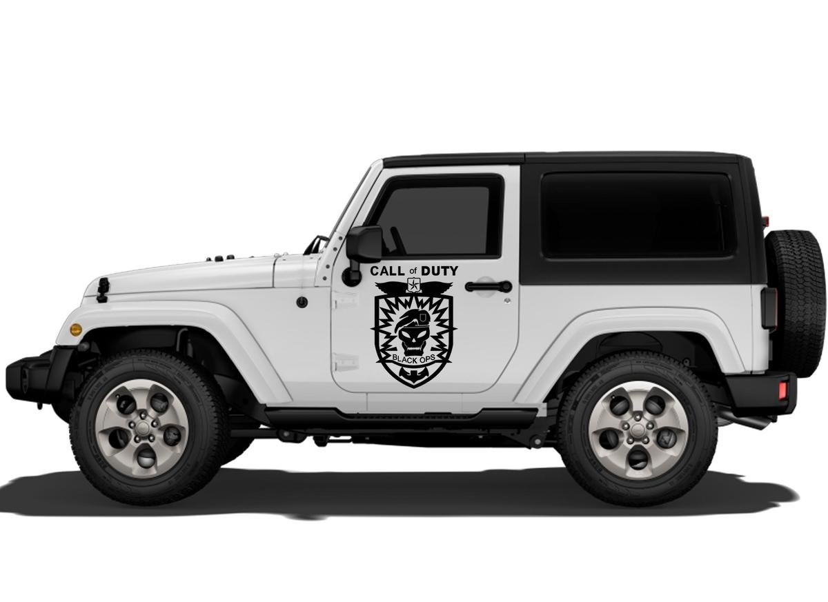 Product jeep decals jeep wrangler door decal sticker rubicon sahara call of dutty